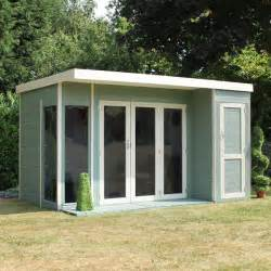 12 x 8 waltons contemporary summerhouse with side shed rh