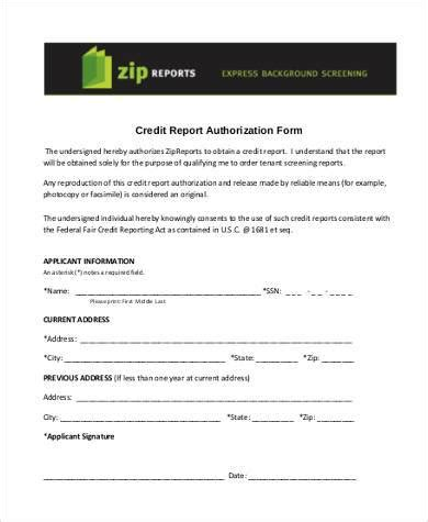 Credit Opinion Report Iba Format Pdf Sle Credit Report Authorization Forms 8 Free