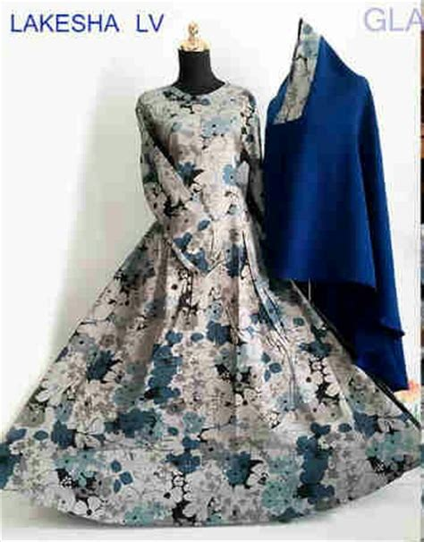 Harga Jilbab Versace gamis katun jepang lakesha syar i b040 baju muslim modern