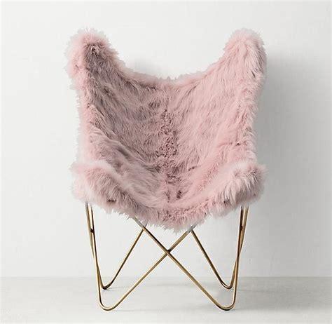pink faux fur bean bag chair pink faux fur aged brass butterfly chair decor