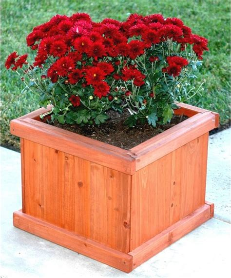 Indoor Planter Box by Blue Marble Designs Small Square Demi Planter Box Modern