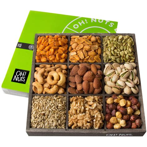 holiday gourmet food nuts gift basket 7 different nuts five star gift baskets nutty new yorker gourmet food nuts gift basket 7 different nuts 19 6 ounces