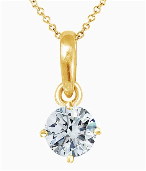 popleys 18kt gold pendant without chain available at