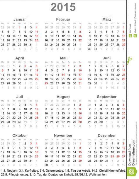 printable calendar 2015 germany calendar 2015 for germany stock vector image of card