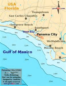 panama city florida on a map panama city map gooddive