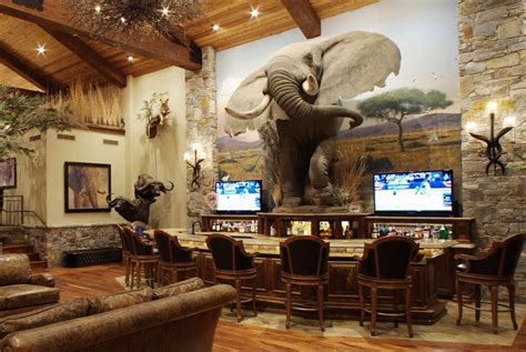 hunting decorations for home photos how to design a trophy room outdoorhub