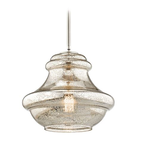Nickel Pendant Light Kichler Lighting Everly Brushed Nickel Pendant Light With Urn Shade 42044nimer Destination