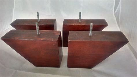 sofa leg replacements mahogany replacement sofa legs wedge 4 inch 100 solid wood