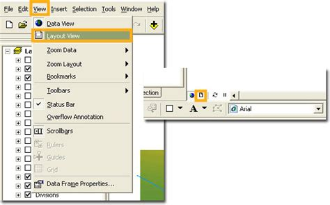 layout view arcgis landscape arcgis for archaeologists practical 3