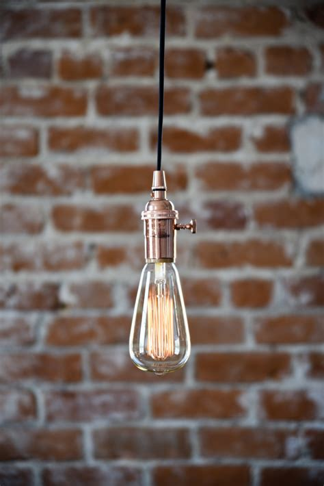 light plugs free shipping industrial in pendant light copper bare