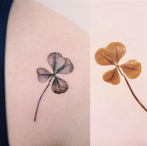 35 artistic shamrock and four leaf clover tattoos