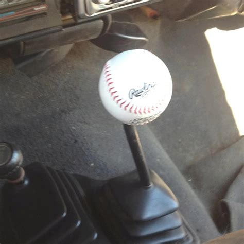 Baseball Shift Knob by This Is A Baseball Shifter Knob That I Made All You Need