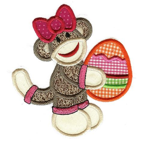 monkey applique sock monkey applique machine embroidery alphabet font