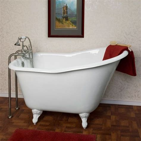 small clawfoot tubs for small bathrooms 52 quot wallace cast iron slipper clawfoot tub cast iron