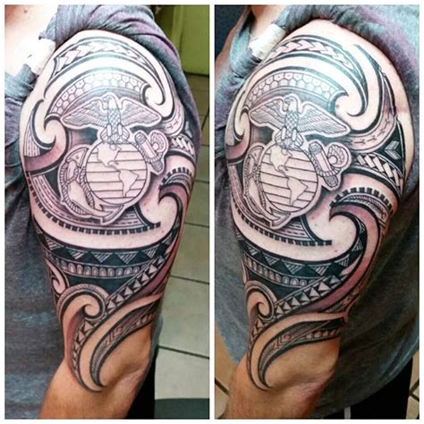 marine corps sleeve tattoo designs 16 best u s marine corps usmc ideas images on