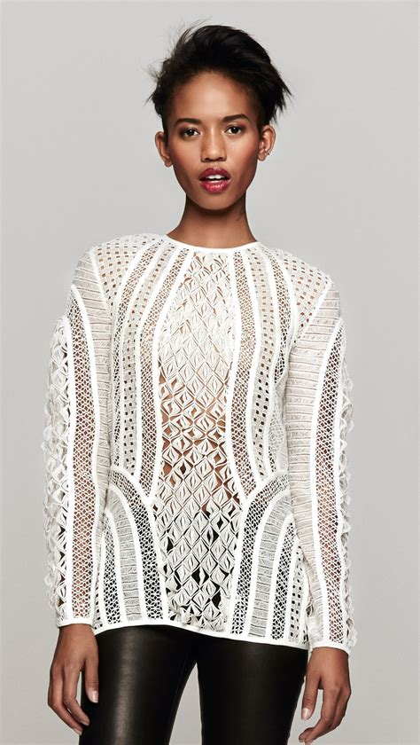 lace top zimmermann contour lace top in white