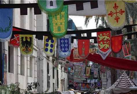 hanging medieval house flag banner traditional ancient