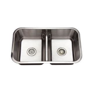 mirabelle sinks mirabelle mirurb3219 stainless steel 32 quot basin stainless steel kitchen sink with 50 50