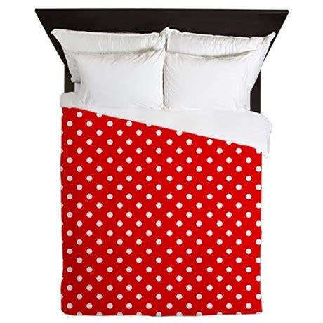 polka dot comforter queen red and white polka dot queen duvet by inspirationzstore