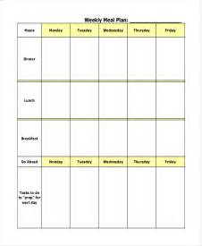 editable menu planner template editable weekly menu planner template