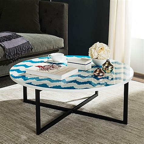 bed bath and beyond cheyenne buy safavieh cheyenne coffee table in blue white from bed