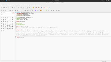 latex tutorial index introduction to latexila a multi language latex editor