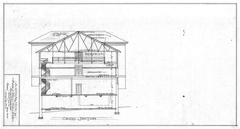 sectional drawings a gymansium for mars hill college cross section drawing