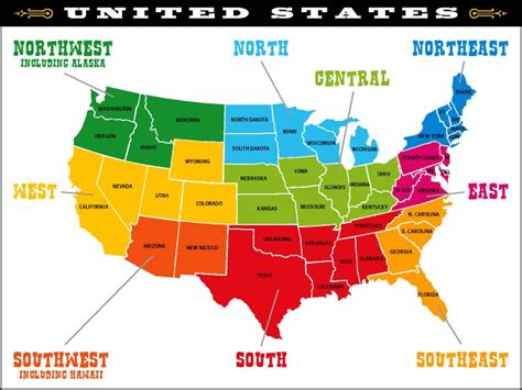 us regions map compass map