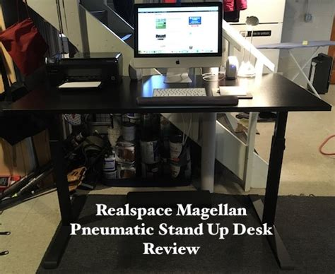 realspace magellan pneumatic stand up height adjustable desk p90x push up bars review brad gibala