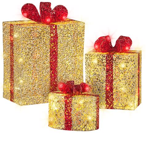 shop gemmy 3 piece 1 51 ft gift boxes lighted outdoor