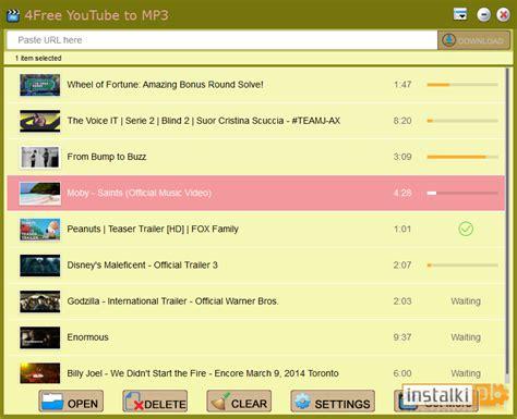 pobieranie mp3 z youtube download 4free youtube to mp3 3 8 download instalki pl