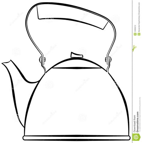 Water Pot Outline by Kettle Clipart Clipart Suggest