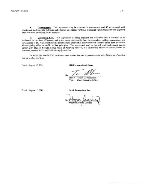 Corp To Corp Agreement Template good gaming inc form 10 q ex 10 1 settlement
