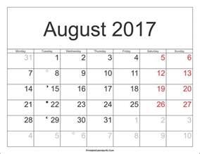 Calendar Vertex August 2017 Calendar Vertex