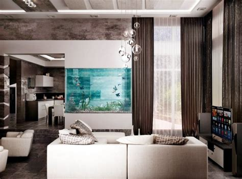 Interior Decorations For Home 100 Ideas Integrate Aquarium Designs In The Wall Or In The