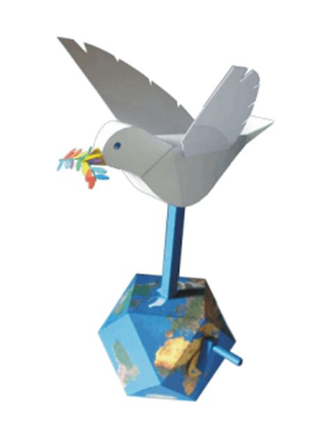Moving Papercraft - moving peace dove free papercraft