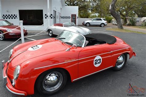 porsche old red 1957 porsche 356 speedster replica red with red black