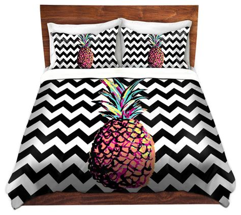 pineapple comforter set duvet cover twill by organic saturation party pineapple