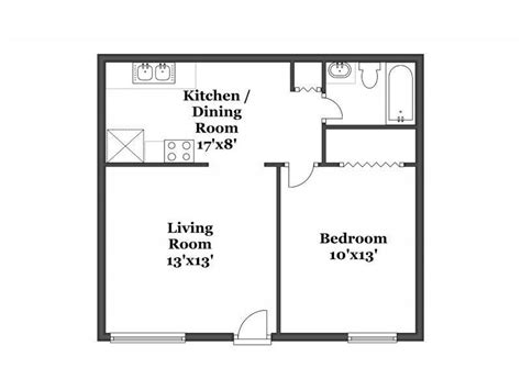floor plan for 1 bedroom apartment rent 5650 hardy ave san diego ca 92115 radpad