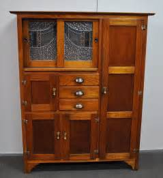 lovely antique leadlight hardwood kitchen dresser