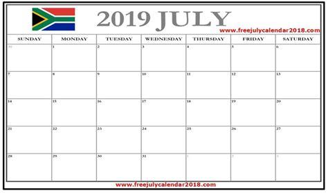 july  calendar south africa  calendar calendar  template july calendar