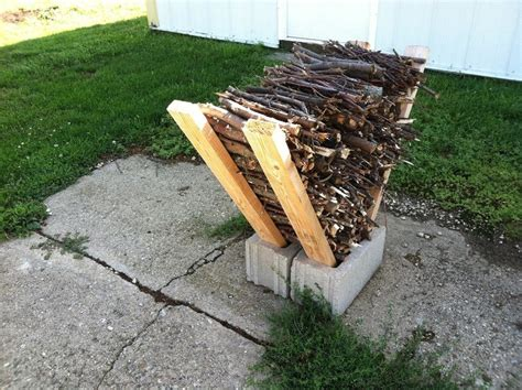 cheap diy firewood rack how to use cement blocks in practical outdoor projects