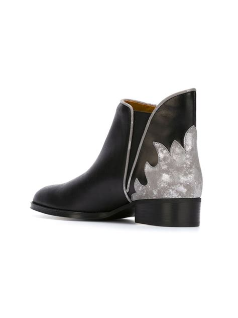 see by boots see by chlo 233 skyla ankle boots in black lyst