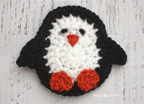 penguin applique p is for penguin crochet penguin applique repeat