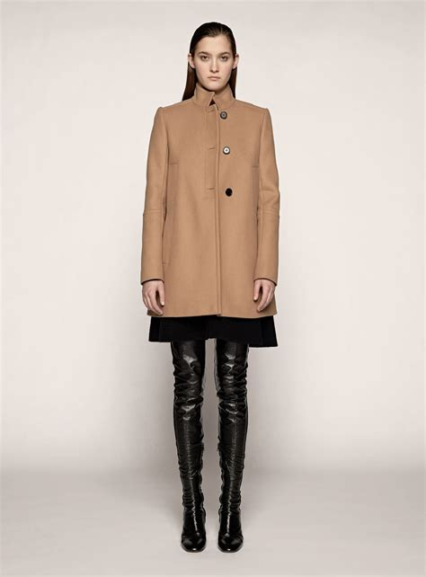 camel swing coats for ladies proenza schouler swing coat in beige camel lyst