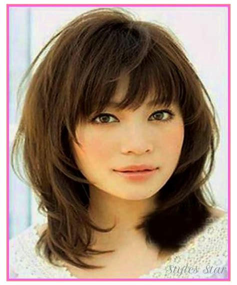 Medium Womens Hairstyles by Haircuts Medium Hairstyles 2018 With Fringe Best