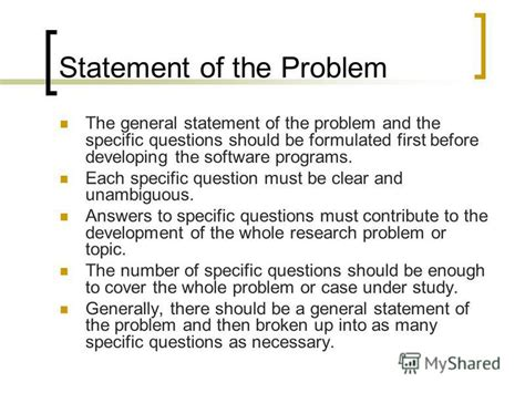 problem statement for thesis exle of thesis paper statement of the problem