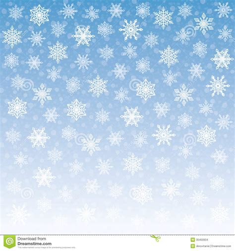pattern blue sky tender snowflakes background stock images image 35450934