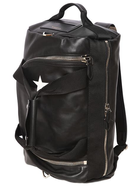 lyst givenchy star printed leather backpack  black  men