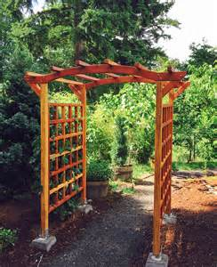 Garden Arbor Kits For Sale Arched Arbor Kit For Sale Custom Made Forever Redwood